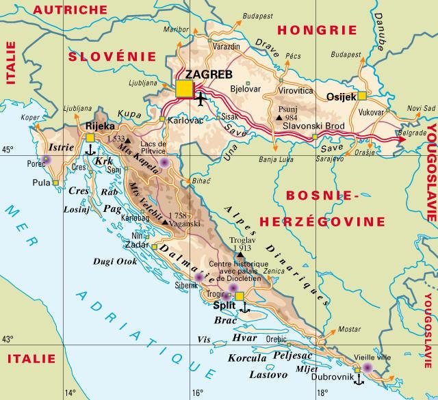 Voyages en Croatie, Monténégro, Bosnie et Slovénie